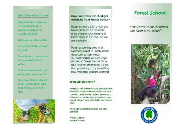 thumbnail of Forest school info leaflet