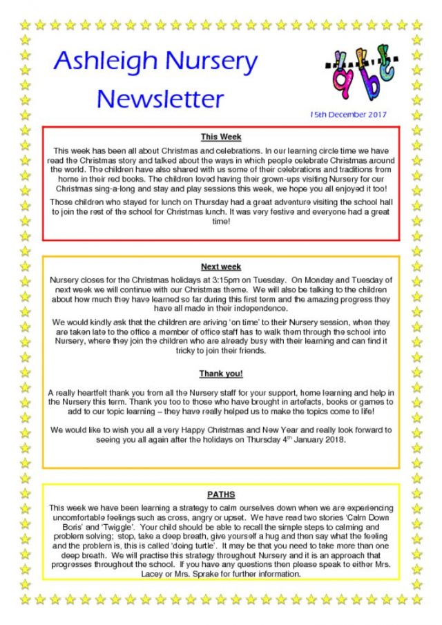 thumbnail of 15 12 17 Ashleigh Nursery Newsletter