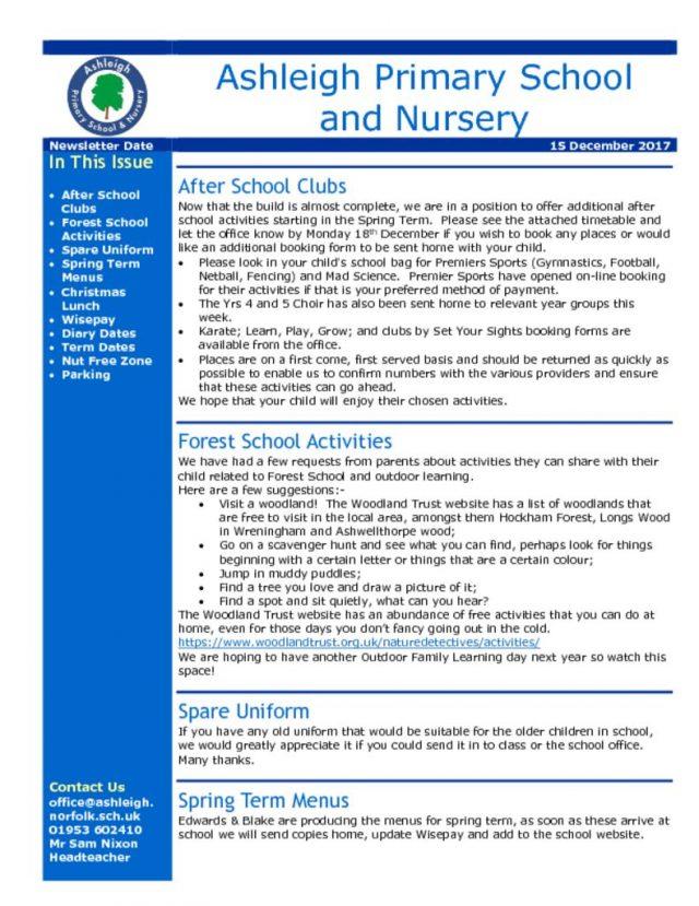 thumbnail of 15 12 17 Ashleigh School Newsletter
