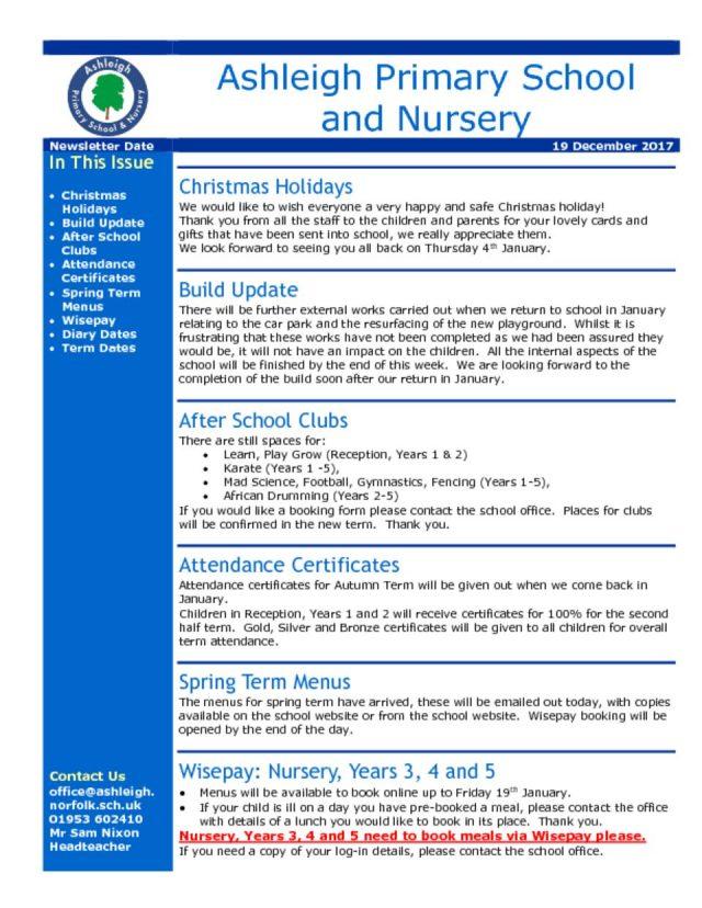 thumbnail of 19 12 17 Ashleigh School Newsletter