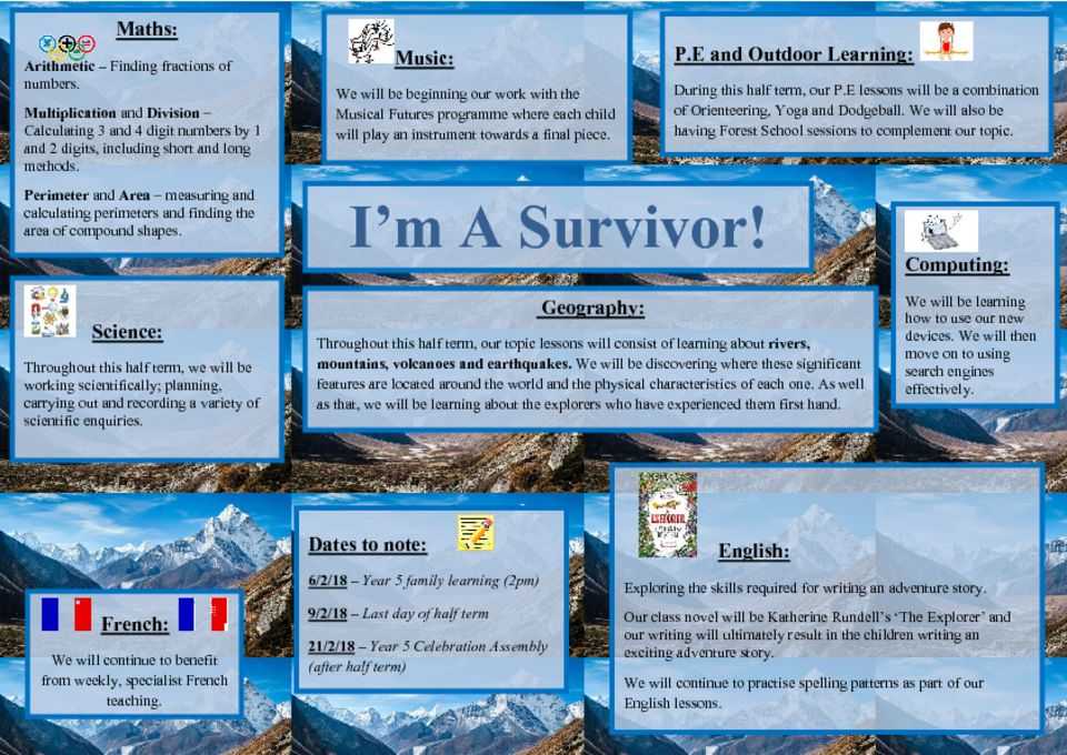 thumbnail of I'm A Survivor Topic Web