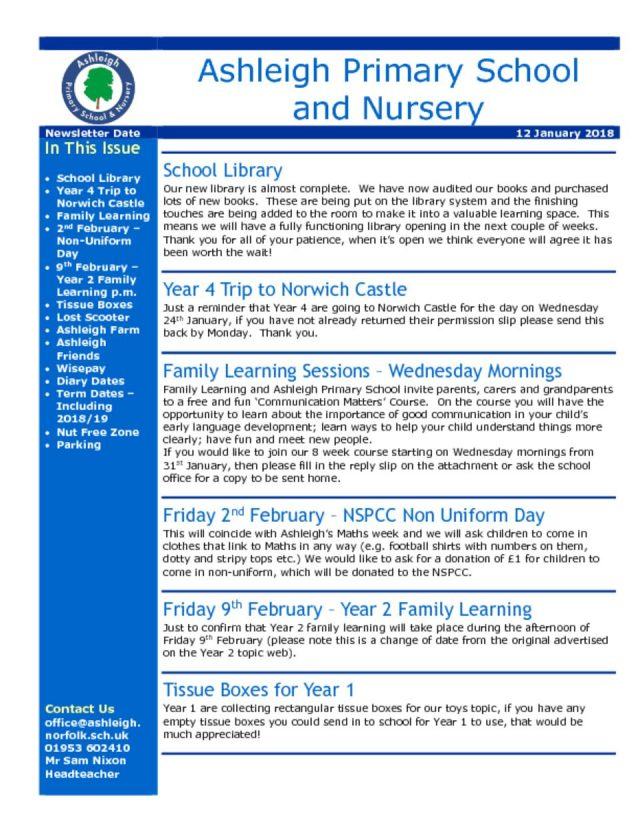 thumbnail of 12 01 18 Ashleigh School Newsletter