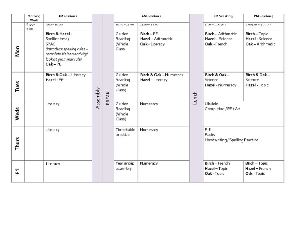 thumbnail of Year 3 Timetable SPRING