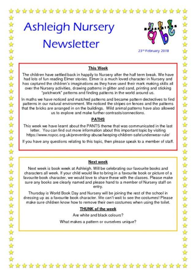 thumbnail of 23 02 18 Ashleigh Nursery Newsletter