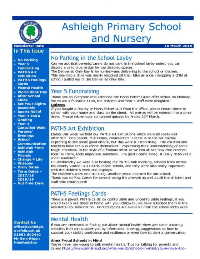 thumbnail of 16 03 18 Ashleigh School Newsletter