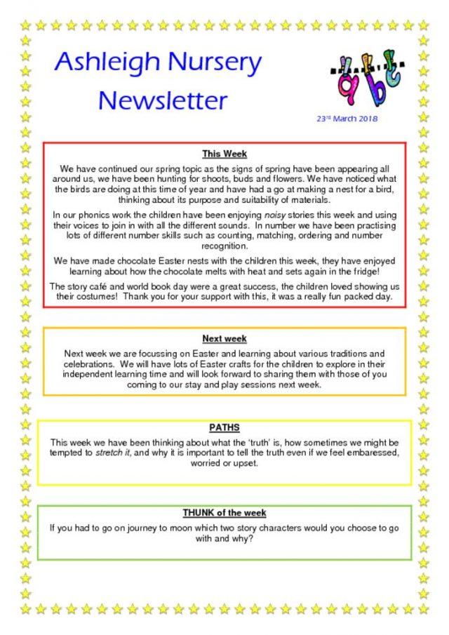 thumbnail of 23 03 18 Ashleigh Nursery Newsletter