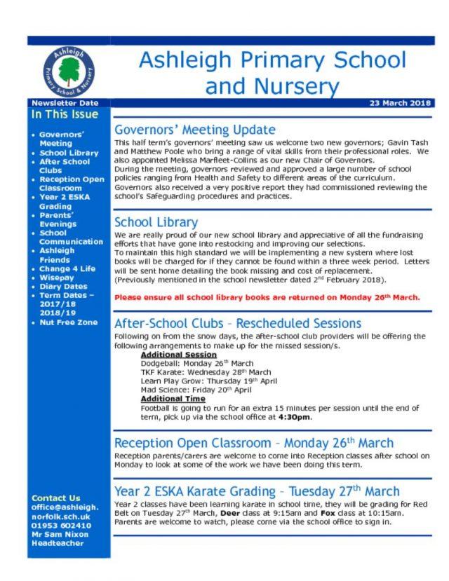 thumbnail of 23 03 18 Ashleigh School Newsletter