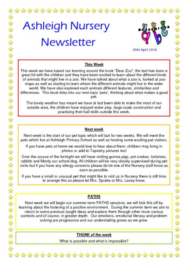thumbnail of 20 04 18 Ashleigh Nursery Newsletter
