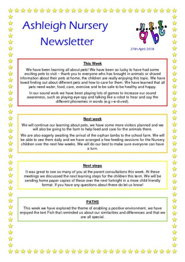 Nursery News 2017-18 – Page 2 – Ashleigh Primary School