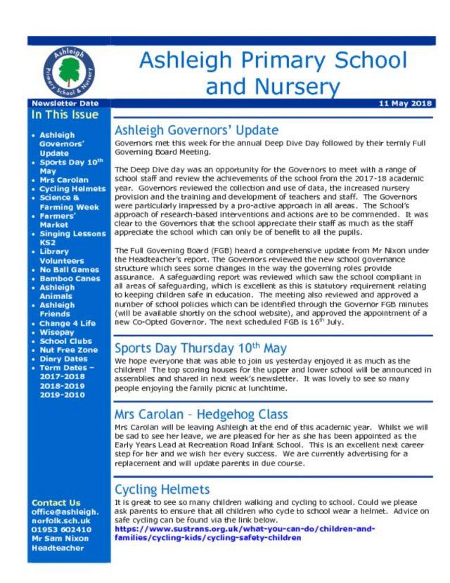 thumbnail of 11 05 18 Ashleigh School Newsletter