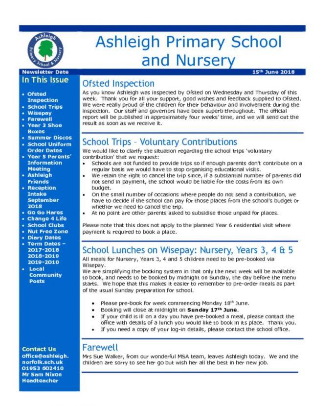 thumbnail of 15 06 18 Ashleigh School Newsletter