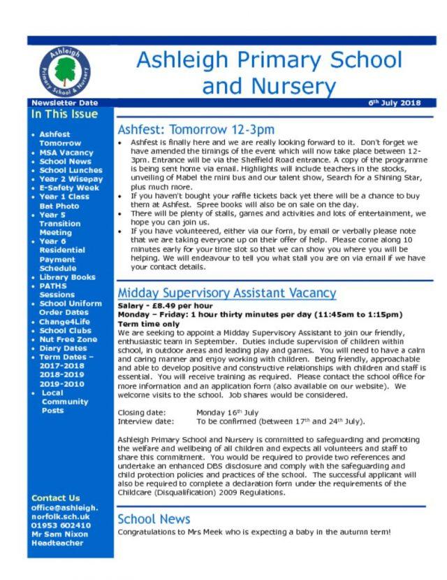 thumbnail of 06 07 18 Ashleigh School Newsletter