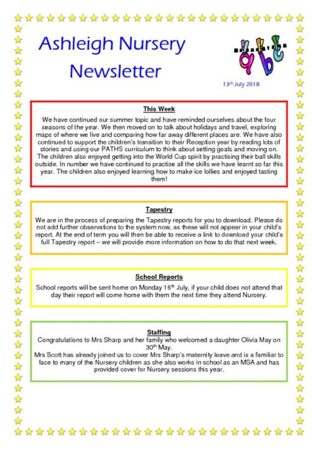 thumbnail of 13 07 18 Ashleigh Nursery Newsletter