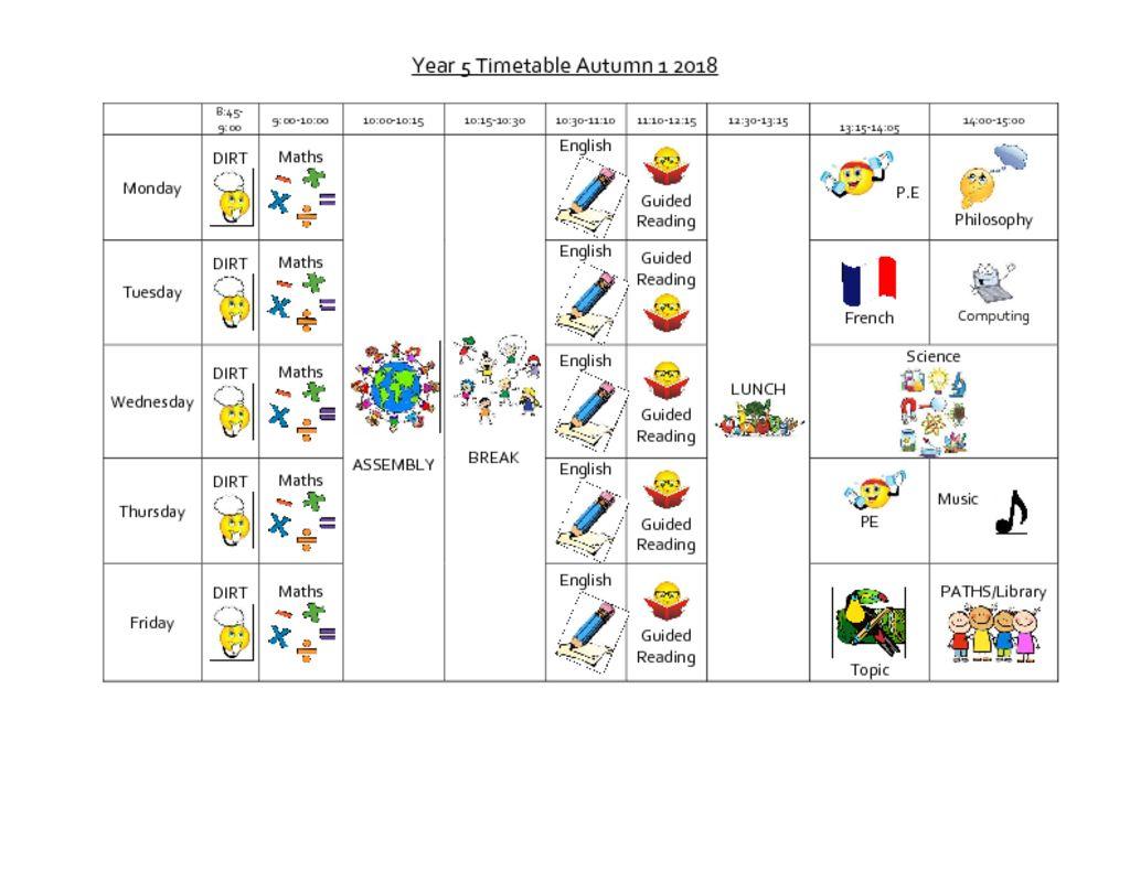 thumbnail of Year_5_autumn_timetable[1]