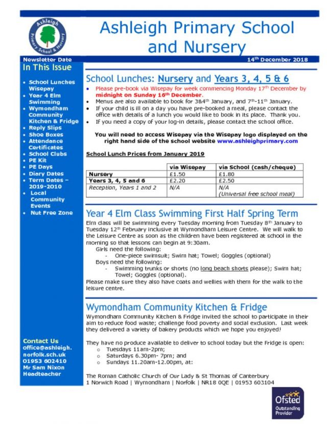 thumbnail of 14 12 18 Ashleigh School Newsletter