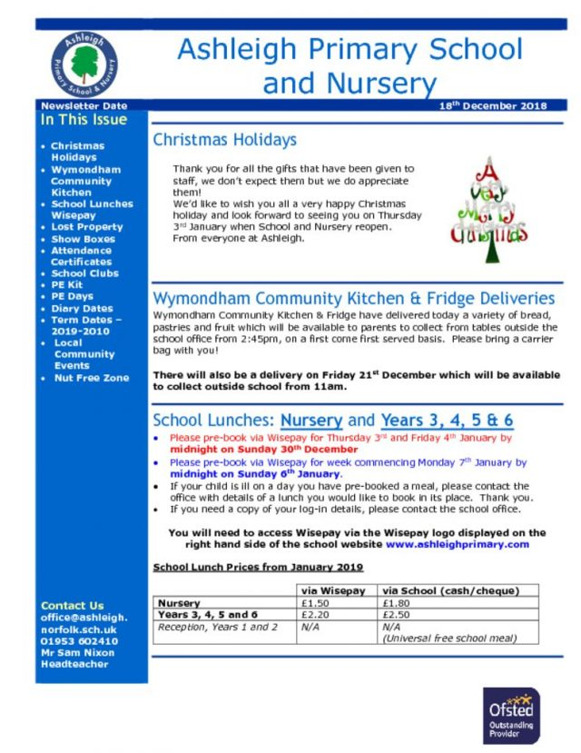 thumbnail of 18 12 18 Ashleigh School Newsletter