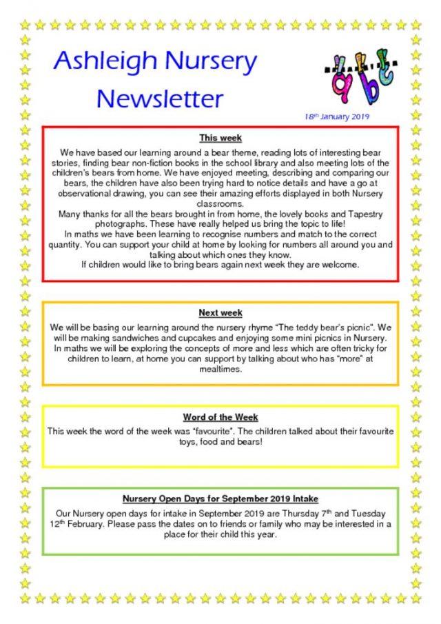 thumbnail of 18 01 19 Ashleigh Nursery Newsletter