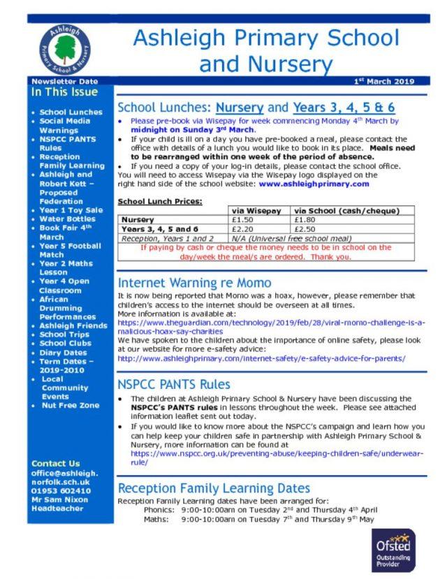 thumbnail of 01 03 19 Ashleigh School Newsletter