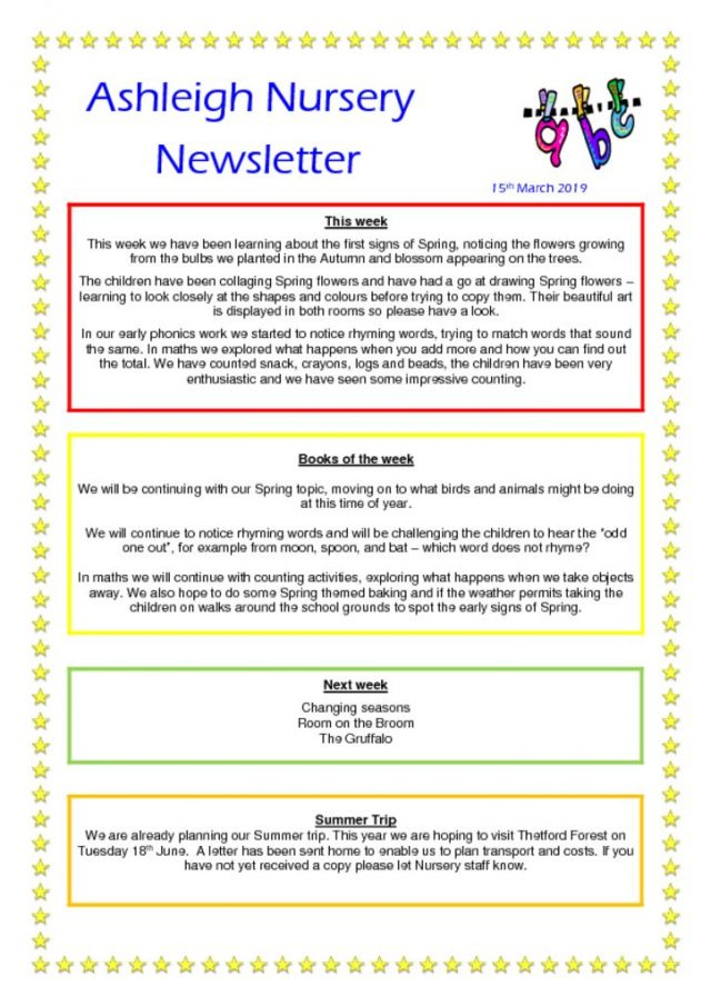 thumbnail of 15 03 19 Ashleigh Nursery Newsletter