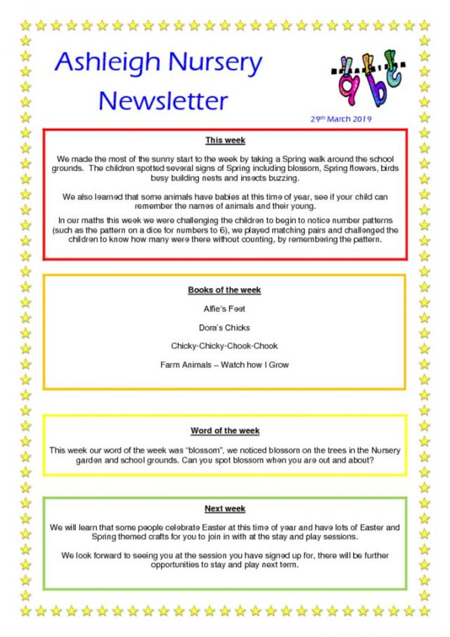 thumbnail of 29 03 19 Ashleigh Nursery Newsletter
