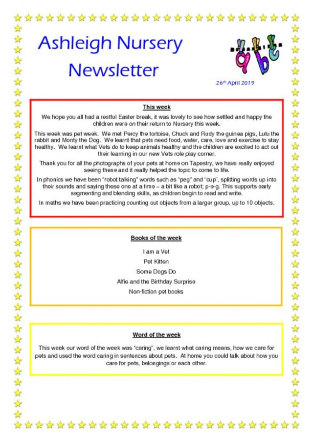 thumbnail of 26 04 19 Ashleigh Nursery Newsletter
