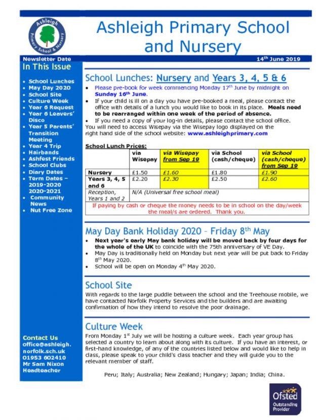 thumbnail of 14 06 19 Ashleigh School Newsletter
