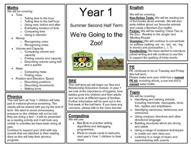 Year 1 – Ashleigh Primary School & Nursery