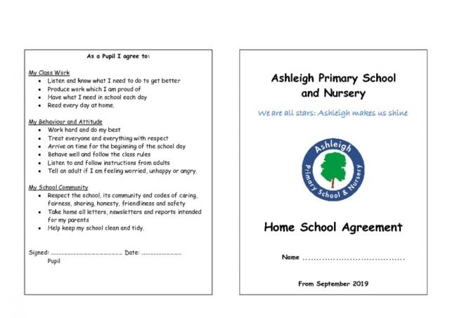 thumbnail of Home School Agreement July 2019