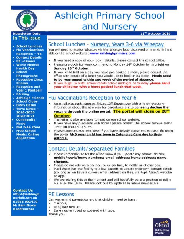 thumbnail of 11 10 19 Ashleigh School Newsletter