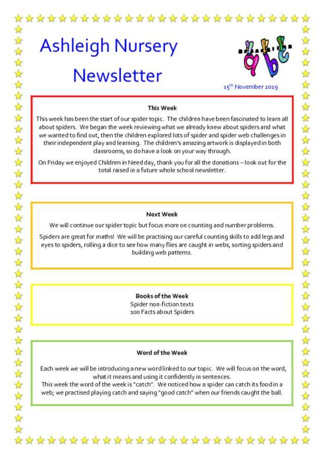 thumbnail of 15 11 19 Ashleigh Nursery Newsletter