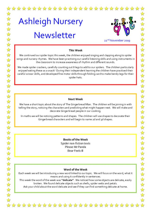 thumbnail of 22 11 19 Ashleigh Nursery Newsletter