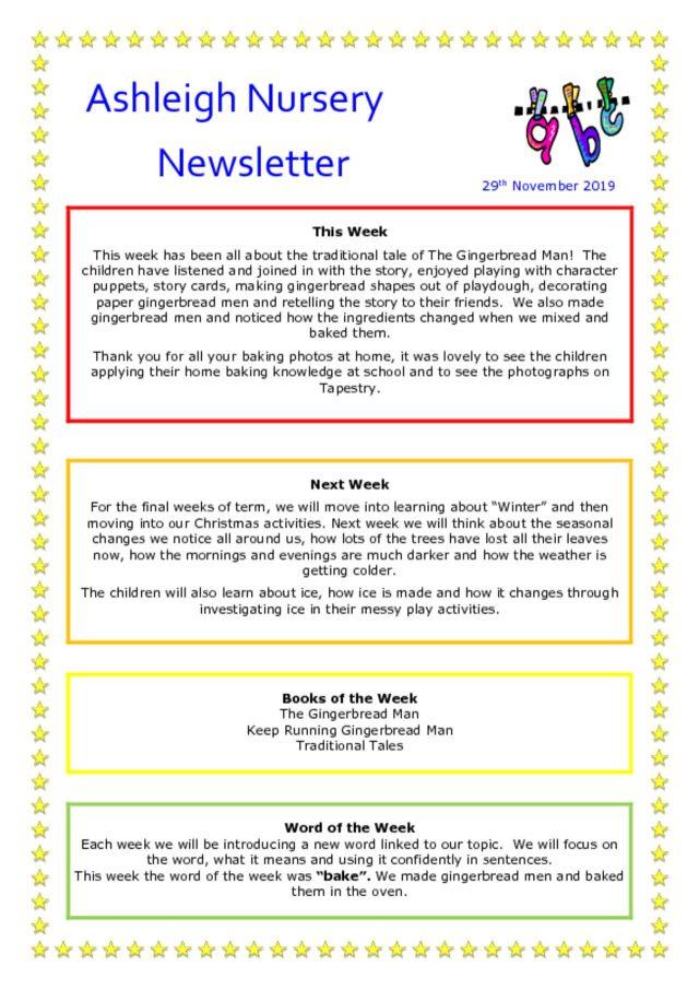 thumbnail of 29 11 19 Ashleigh Nursery Newsletter