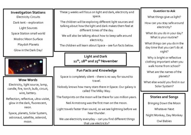 thumbnail of Knowledge Organiser – Light and Dark Autumn 2 Weeks 3, 4 and 5
