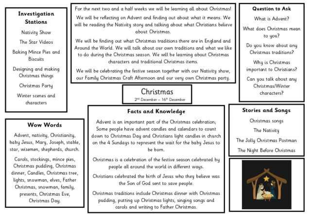thumbnail of Knowledge Organiser – Christmas