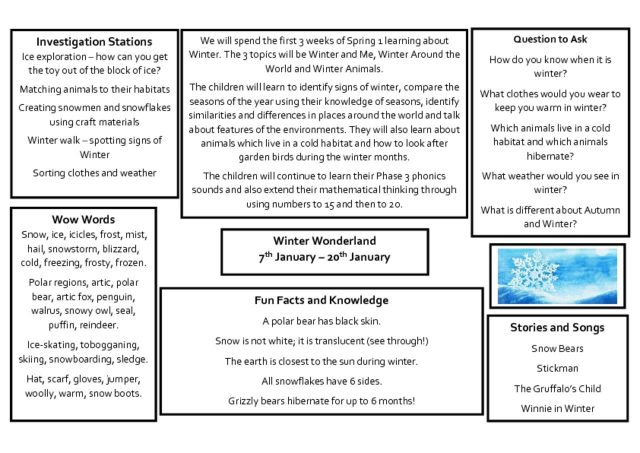 thumbnail of Knowledge Organiser – Winter 7th, 13th and 20th January