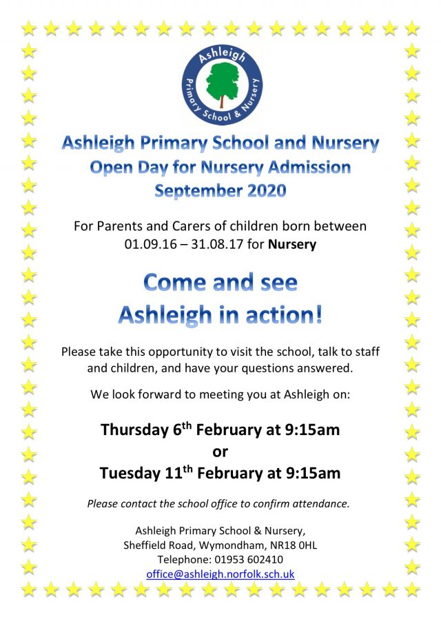 Nursery Open Day February 2020