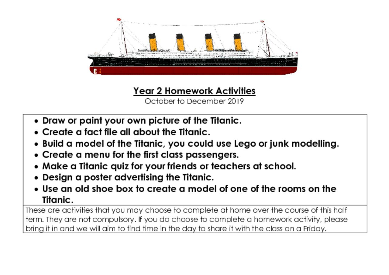 thumbnail of Year 2 Homework Activities – Autumn Term 2
