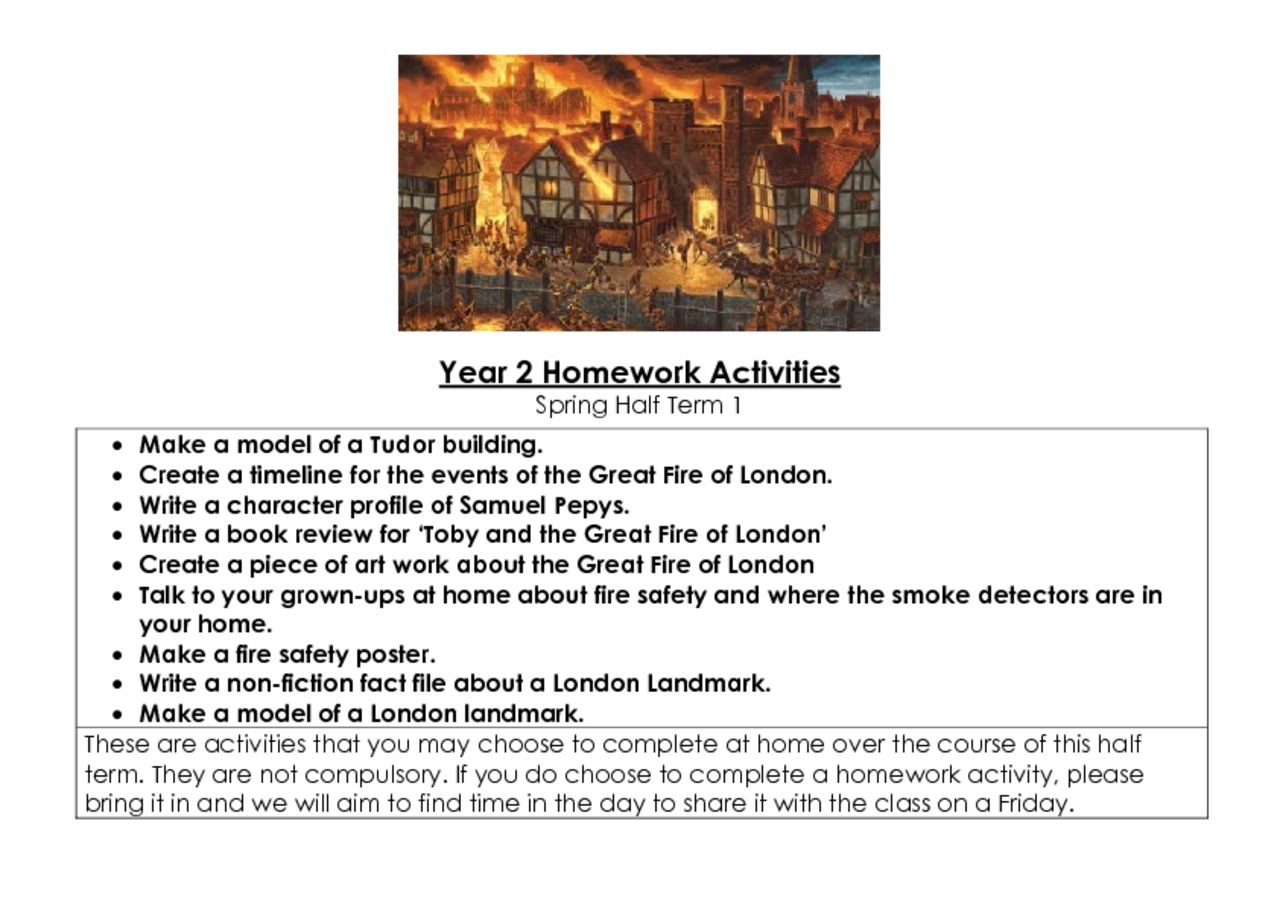 thumbnail of Year 2 Homework Activities – Spring Term 1