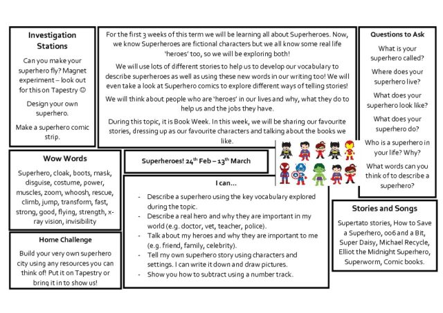 thumbnail of Knowledge Organiser – Superheroes