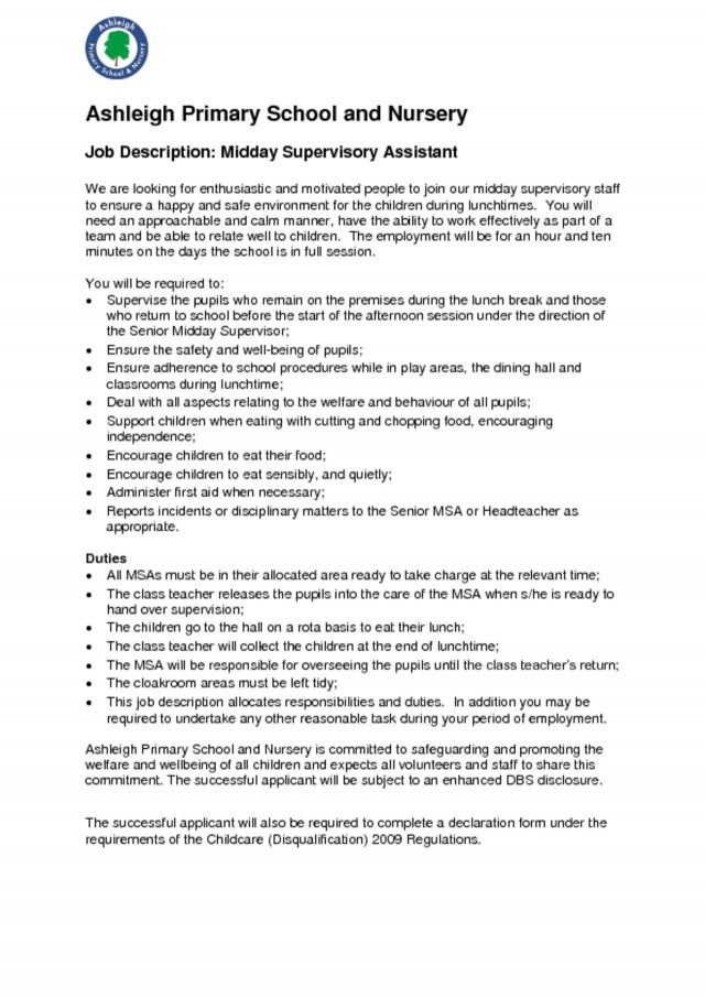 thumbnail of MSA Job Description 2020