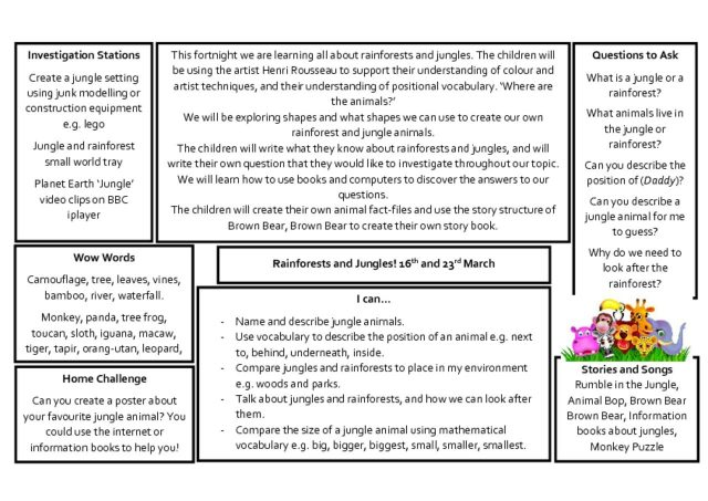 thumbnail of Knowledge Organiser – Jungles and Rainforests