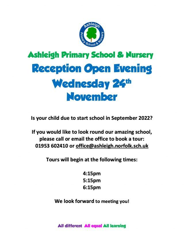 Reception Open Evening 2021